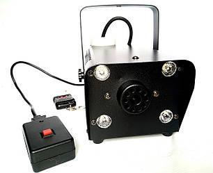 Дым машина с подсветкой 400 Вт и пультом ДУ (Генератор дыма). Dzyga