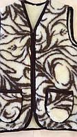 Безрукавка універсальна шерстяна на овчині