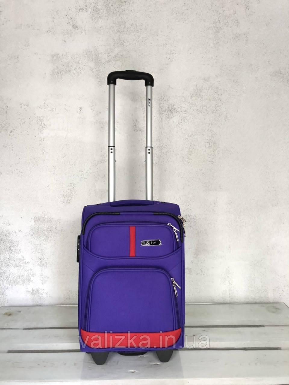 Чемодан тканевый на колесах малый чемодан для ручной клади фиолетовый