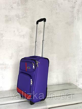 Чемодан тканевый на колесах малый чемодан для ручной клади фиолетовый , фото 2