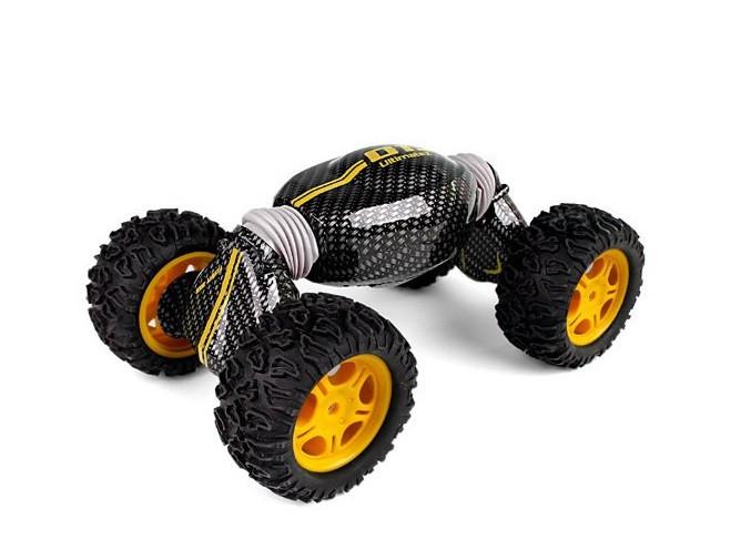 Радиоуправляемая игрушка SUNROZ Hyper Tumble детский трюковой внедорожник на р/у Серо-Оранжевый (SUN2266)