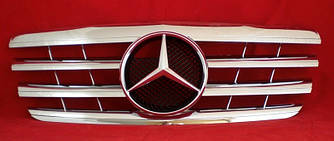 Решетка радиатора Mercedes W210 (99-02) стиль AMG (хром)