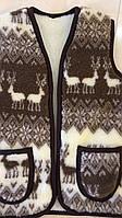 Жилетка універсальна шерстяна на овчині