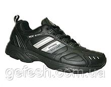 Мужские кожаные кроссовки Veer Demax ЕВРО размер  41, 42, 43, 44, 45, 46 46 ( стелька 29.4 см ), Черного цвета