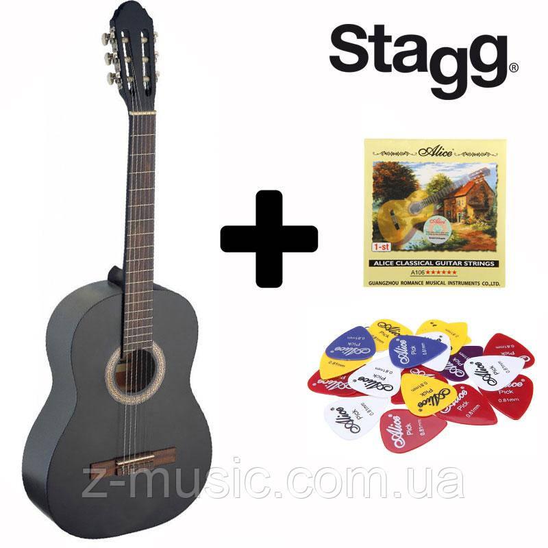 Гитара классическая Stagg C440 BK (Струна+Медиатор)
