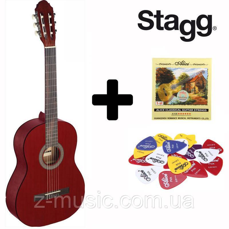 Гитара классическая Stagg C440 RD (Струна+Медиатор)