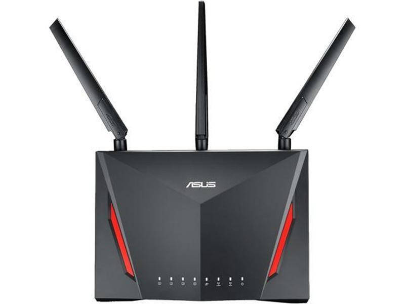 Беспроводной маршрутизатор Asus RT-AC86U (AC2900, 1*Wan, 4*LAN Gigabit, 1*USB3.0, 1*USB2.0, 3 антенны)