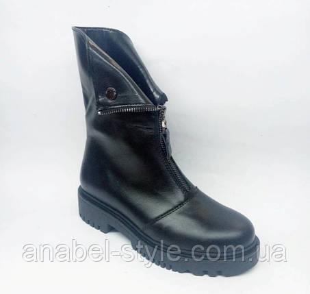 Ботинки на утолщенной подошве осенне-весенние из натуральной кожи спереди молния Код 1818 AR, фото 2