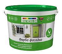 Краска водно-дисперсионная фасадная латексная POLYCOLOR Fasade 7 кг