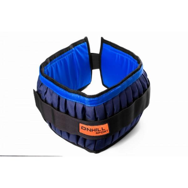 Пояс утяжелительный регульований Onhillsport 10 кг 100 см (UP-0104)