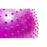 Мяч (фитбол) для фитнеса полумассажный 2 в 1 OSPORT 65см (FI-4437-65) Фиолетовый, фото 4