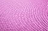 Килимок-Мат для йоги та фітнесу OSPORT ПВХ 3 мм (FI-0100) Рожевий, фото 2