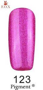 Гель-лак F.O.X. 6 мл Pigment 123 розовый с микро блеском, эмаль
