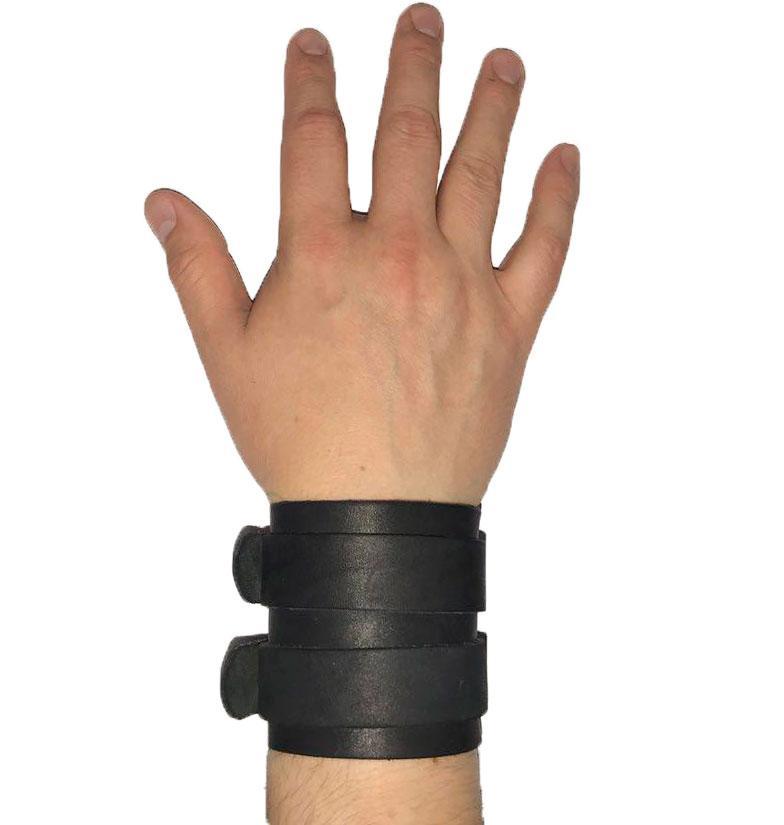 Напульсник кожаный на руку (спортивный фиксатор для запястья, кисти) Onhillsport NEO (OS-0331)