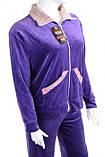 Женский велюровый костюм большого размера , фото 3