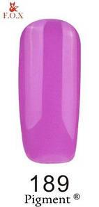 Гель-лак F.O.X. 6 мл Pigment 189 розовая фуксия, эмаль