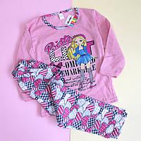 Детская пижама девочке Розовая с девочкой Турция размер 5-6 1922045bd9b24