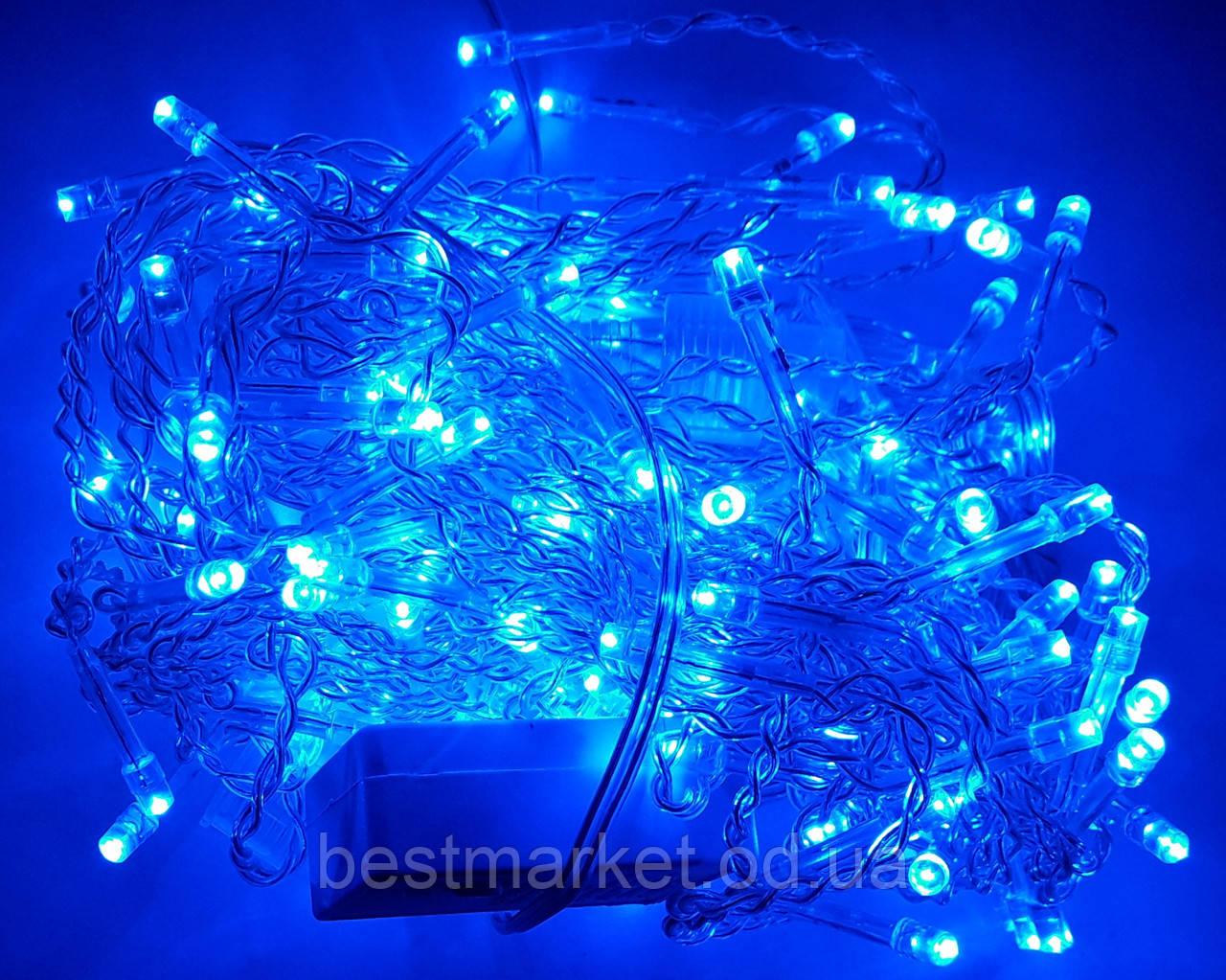 Светодиодная Гирлянда Штора 140 Led 3 х 0,7 м Синяя В без Режимов