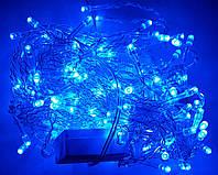 Светодиодная Гирлянда Штора 140 Led 3 х 0,7 м Синяя В без Режимов, фото 1