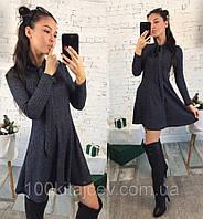 Модное женское платье из трикотажа с люрексом 42 - 46 рр f9307928ffb35