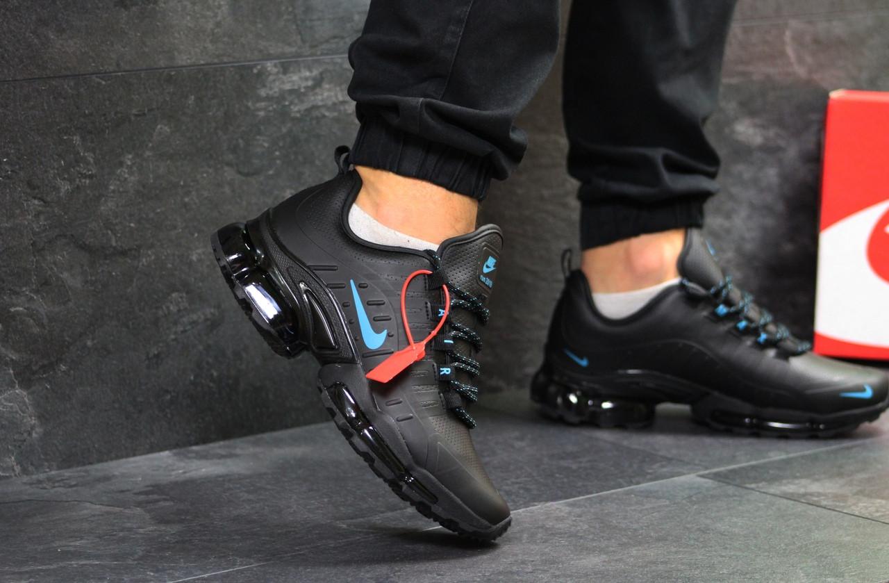 Кроссовки мужские Nike Air Max 2019 пресс кожа осенние весенние стильные хит продаж (черные), ТОП-реплика