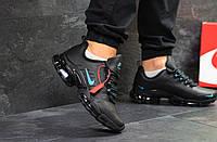 Кроссовки мужские Nike Air Max 2019 пресс кожа осенние весенние стильные хит продаж (черные), ТОП-реплика, фото 1