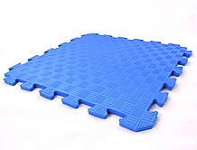 Дитячий ігровий килимок-пазл (мат татамі, ластівчин хвіст) OSPORT 50см х 50см товщина 10мм (FI-0009) Синій
