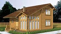 Дом деревянный из профилированного клееного бруса 9х10 м, фото 1