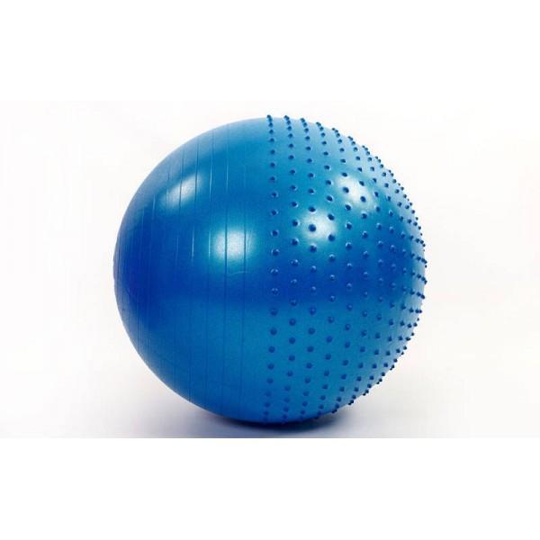 М'яч (фітбол) для фітнесу полумассажный 2 в 1 OSPORT 85 см (FI-4437-85) Синій