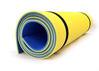 Коврик (каремат) универсальный для спорта и туризма Isolon Tourist Profi 8мм (Tourist_Profi)  Желто-синий