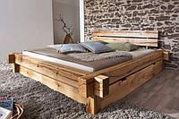 Кровать из брусьев ЛОФТ