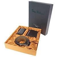 Подарунковий набір шкіряних аксесуарів Tony Bellucсi T-100-942 темно-коричневий