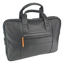 Шкіряна чорна сумка для чоловіків Bond 1133-1 black