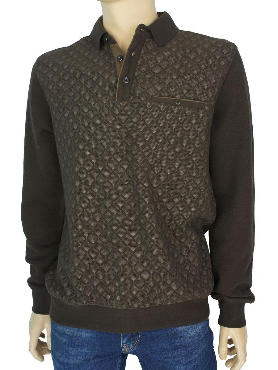 Бавовняний коричневий чоловічий светр Better Life 326 H kahve