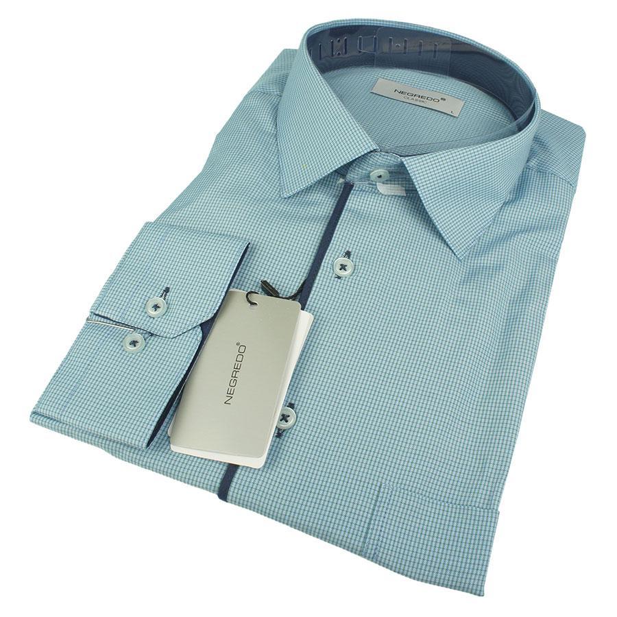 Чоловіча комбінована класична сорочка Negredo Classic 011-H Classic