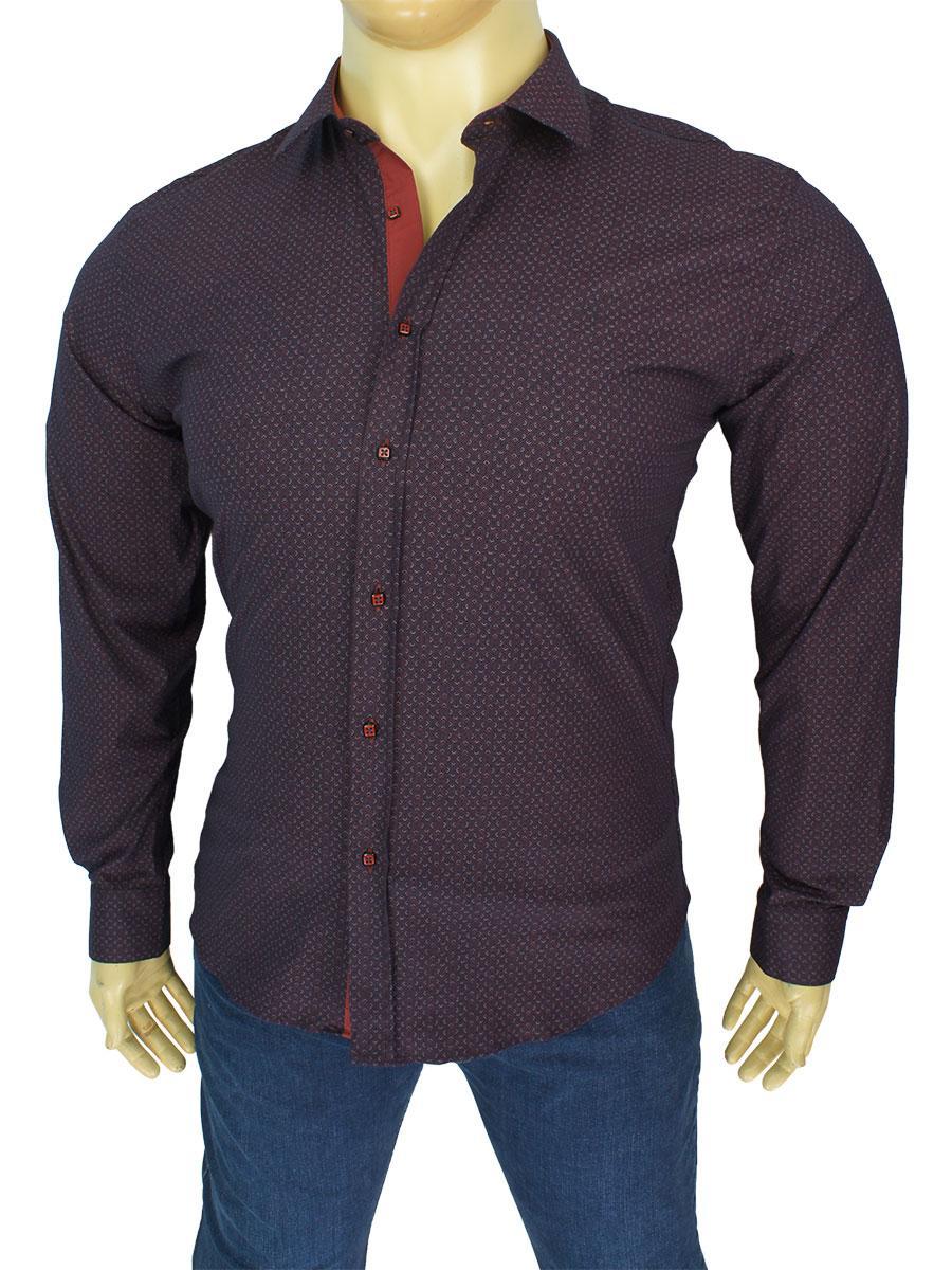 Чоловіча стильна сорочка Negredo Art.9060-2018 B у великому розмірі