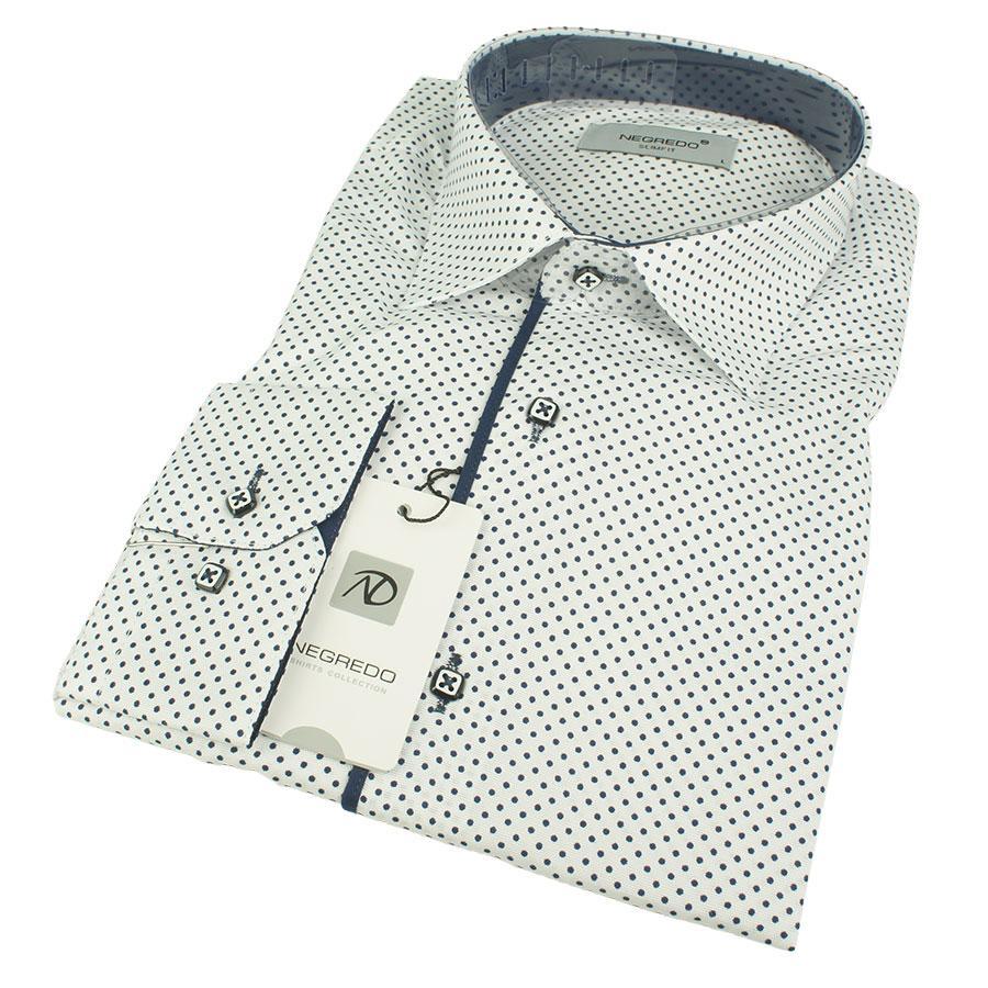 Приталена чоловіча сорочка Negredo 1079 C:03