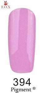 Гель-лак F.O.X. 6 мл Pigment 394 нежно сиреневый с микро блеском, эмаль