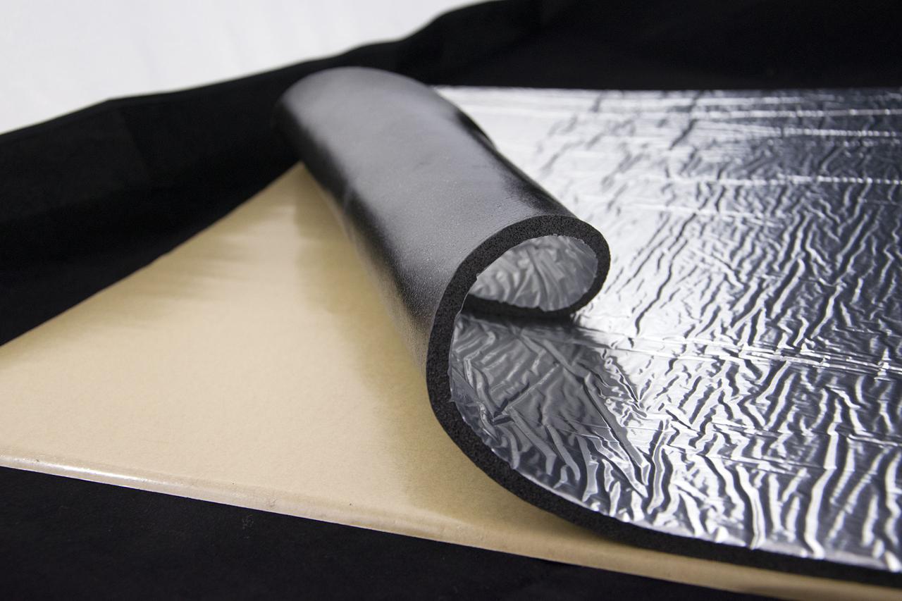 Тепло-шумоізоляція зі спіненого каучуку з фольгою 750х500х10мм SoundProOFF (sp-fleх-sh-10-fl)