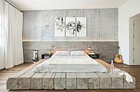 Кровать-платформа из брусьев LOFT
