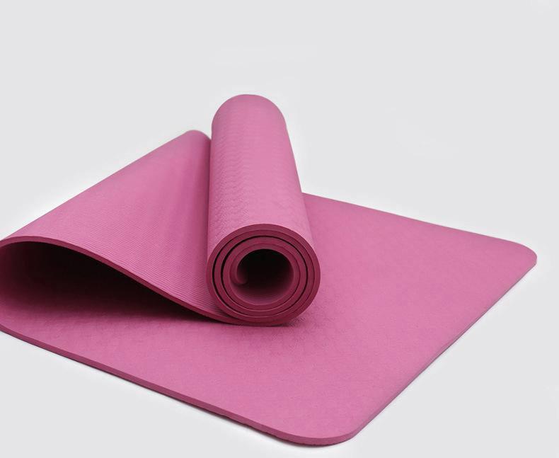 Килимок для йоги та фітнесу (йога мат) одношаровий OSPORT TPE 182х61см товщина 8мм (MS 0616) рожевий