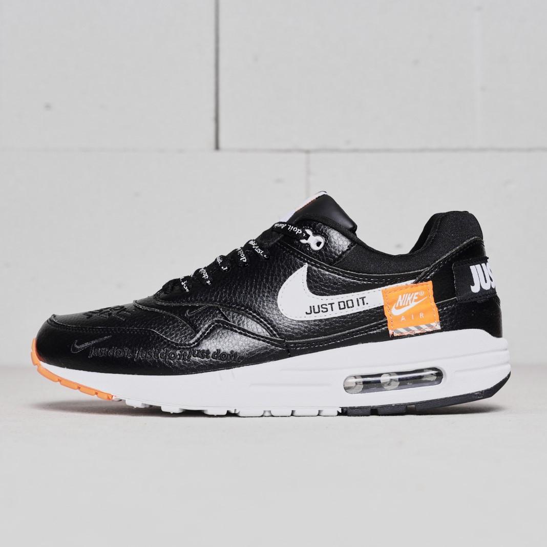 """Кроссовки Nike Air Max 1 Just Do It """"Black"""" (Черные)"""