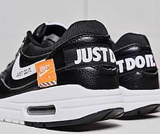 """Кроссовки Nike Air Max 1 Just Do It """"Black"""" (Черные), фото 3"""