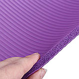 Коврик для йоги и фитнеса NBR (йога мат, каремат спортивный) OSPORT Mat Pro 1см (FI-0075) Фиолетовый, фото 4