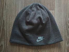Спортивная шапка темно-серая Nike реплика