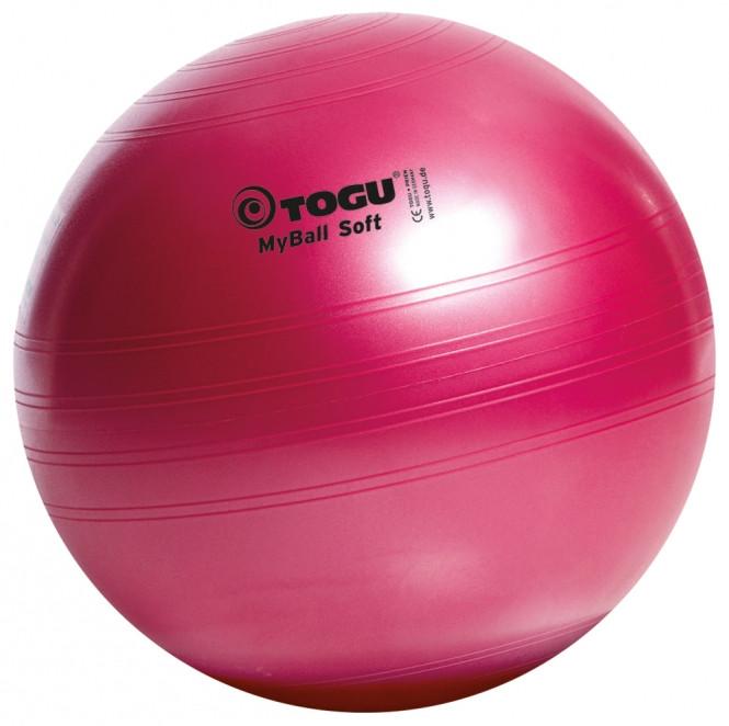 М'яч для фітнесу (фітбол) TOGU MyBall 55см (415600) Червоний рубін