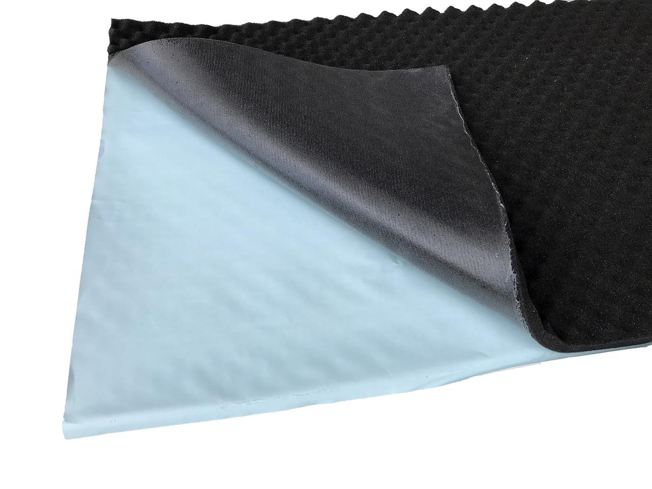Шумоізоляція із спіненого пінополіуретану з липким шаром 100х50х1.5см SoundProOFF SoundWave 15