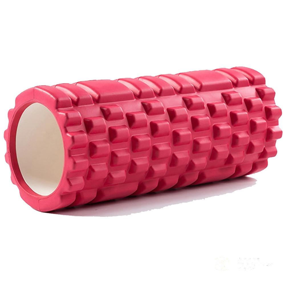 Ролик (валик) для йоги масажний OSPORT (MS-0857) Червоний