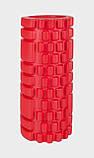 Ролик (валик) для йоги масажний OSPORT (MS-0857) Червоний, фото 2