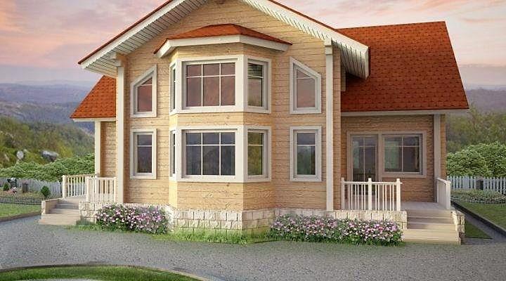 Дом из профилированного клееного бруса 10х13 м